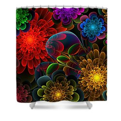 Fractal Bouquet Shower Curtain by Lyle Hatch
