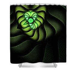 Fractal Cobra Shower Curtain by John Edwards