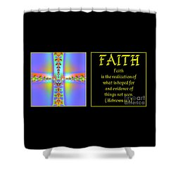 Fractal Faith Hebrews 11 Shower Curtain by Rose Santuci-Sofranko