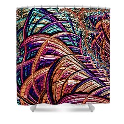 Shower Curtain featuring the painting Fractal Farrago by Susan Maxwell Schmidt