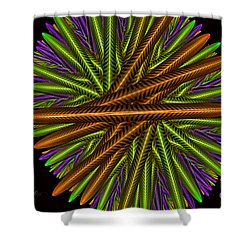 Fractal Feathers Shower Curtain by Melissa Messick
