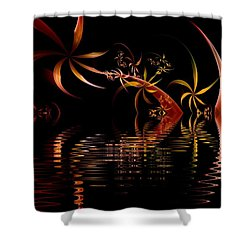 Fractal Fireworks Reflections Shower Curtain