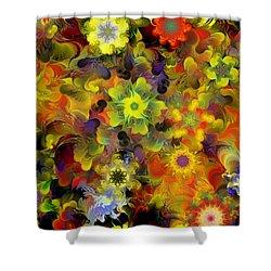 Fractal Floral Study 10-27-09 Shower Curtain