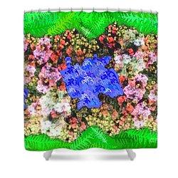 Fractal Flower Garden Shower Curtain by Diamante Lavendar