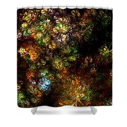 Fractal Flowers Shower Curtain