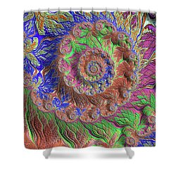Shower Curtain featuring the digital art Fractal Garden by Bonnie Bruno
