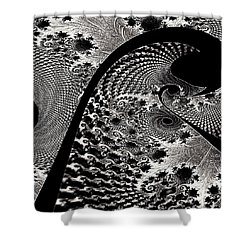 Fractal Japonica Shower Curtain