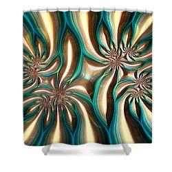 Fractal Landscape Vi Shower Curtain