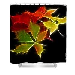 Fractal Leaves Shower Curtain by Teresa Zieba