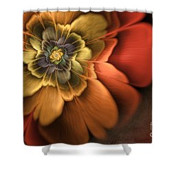 Fractal Pansy Shower Curtain by John Edwards