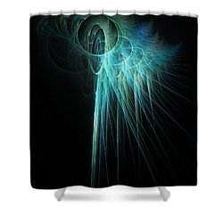 Fractal Rays Shower Curtain by John Edwards