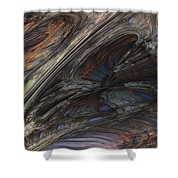 Fractal Structure 005 Shower Curtain