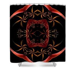 Fractal Symmetry Shower Curtain