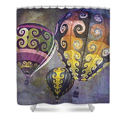 Fractal Trio Shower Curtain by Melinda Ledsome