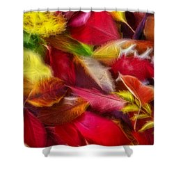 Shower Curtain featuring the photograph Fractalius Leaves by Shane Bechler