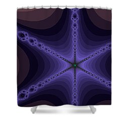 Fractals Yum Shower Curtain