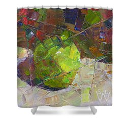 Fractured Granny Smith Shower Curtain
