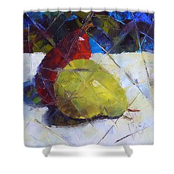 Fractured Pears Shower Curtain