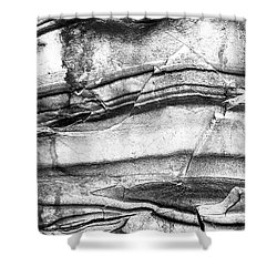 Fractured Rock Shower Curtain by Onyonet  Photo Studios