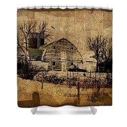 Fragmented Barn  Shower Curtain
