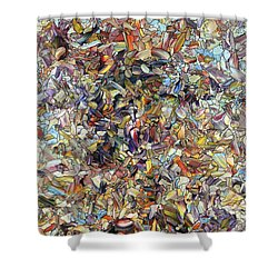 Shower Curtain featuring the painting Fragmented Horse by James W Johnson