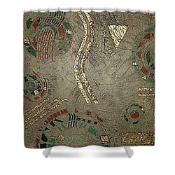 Fragments From Atlantis Shower Curtain