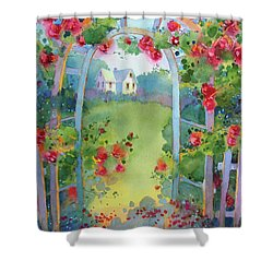 Framed By The Roses Shower Curtain