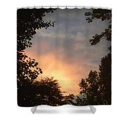 Shower Curtain featuring the photograph Framed Fire In The Sky by Sandi OReilly