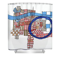 Framed In Blue Shower Curtain by Sandra Church