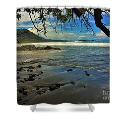 Framing The Tide Shower Curtain by Pamela Blizzard