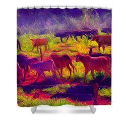 Franca Cattle 1 Shower Curtain