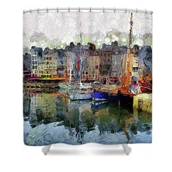 Shower Curtain featuring the photograph France Fishing Village by Claire Bull