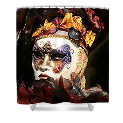 Francine - Over The Shoulder Shower Curtain by Donna Corless