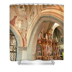 Franciscan Decor Shower Curtain