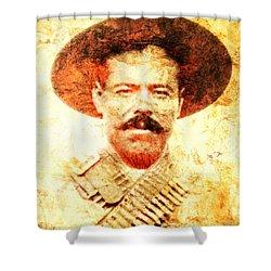 Francisco Villa Shower Curtain by J- J- Espinoza