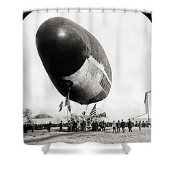 Francois Airship, 1904 Shower Curtain by Granger