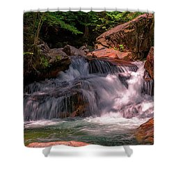 Franconia Notch 2 Shower Curtain by Sherman Perry