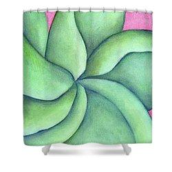 Frangipani Green Shower Curtain