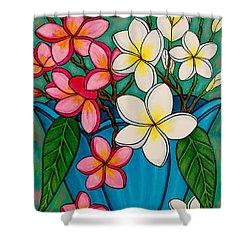 Frangipani Sawadee Shower Curtain by Lisa  Lorenz