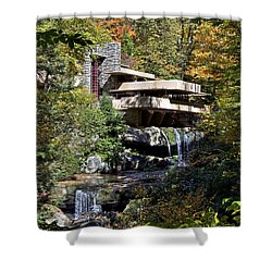 Frank Lloyd Wrights Fallingwater Shower Curtain