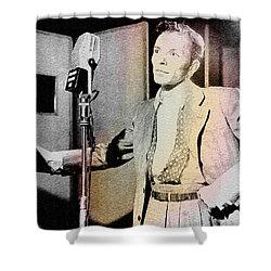 Frank Sinatra 1947 Shower Curtain by Ericamaxine Price
