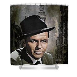 Frank Sinatra Shower Curtain by Andrzej Szczerski
