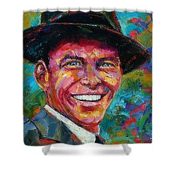 Frank Sinatra Shower Curtain by Debra Hurd