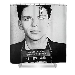 Frank Sinatra Mugshot Shower Curtain by Jon Neidert