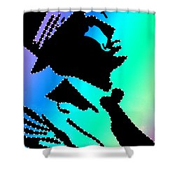 Frank Sinatra Over The Rainbow Shower Curtain by Robert Margetts