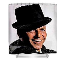 Frank Sinatra Shower Curtain by Rod Jellison