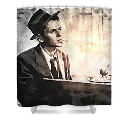 Frank Sinatra - Vintage Painting Shower Curtain
