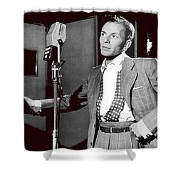 Frank Sinatra William Gottlieb Photo Liederkranz Hall New York City 1947-2015 Shower Curtain by David Lee Guss
