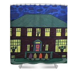 Frank Spies Home. Historical Menominee Art. Shower Curtain by Jonathon Hansen