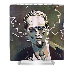 Shower Curtain featuring the painting Frankencrory by Ryan Fox